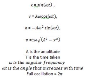 IB Physics Notes - 4.1 Kinematics of simple harmonic motion (SHM)